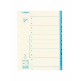 Pappersregister JOPA A4 1-12 vit/blå
