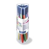 Fiberspetspenna TRIPLUS sorterade färger, 1,0mm, 12st