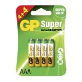 GP Super Alkaline AAA 4+4