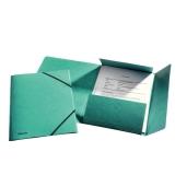 Snoddmapp  Esselte A4/3klaff grön