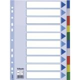 Avdelare PP A4 10 delat multifärgat