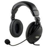 DELTACO headset med mikrofon och volymkontroll 2m kabel