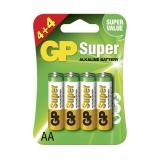 GP Super Alkaline AA 4+4