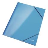 Gummibandsmapp Leitz Wow A4 blå
