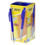 Kulspetspenna BIC Clic M10 blå Dokumentäkta, 50st