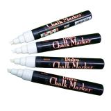 Blackboard Chalk Marker vit sned spets, 4 st