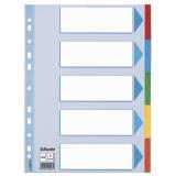 Avdelare A4/5 delad multifärgad kartong