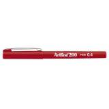 Fineliner Artline EK-200 F 0.4 Röd